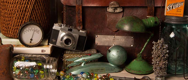 old camera and antiques