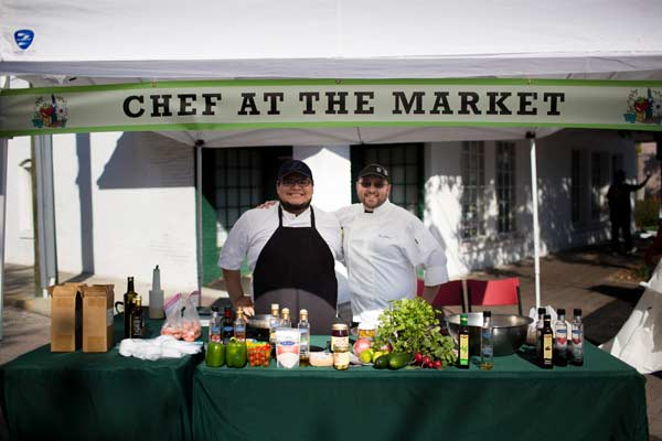 chefs at the market